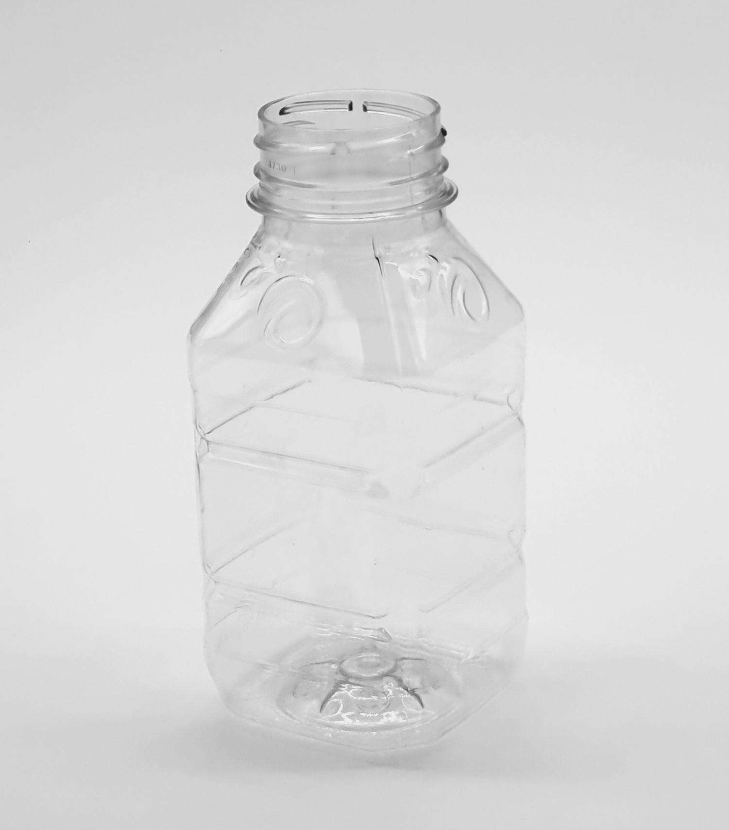 Butelka PET kwadratowa tłoczona 250 ml