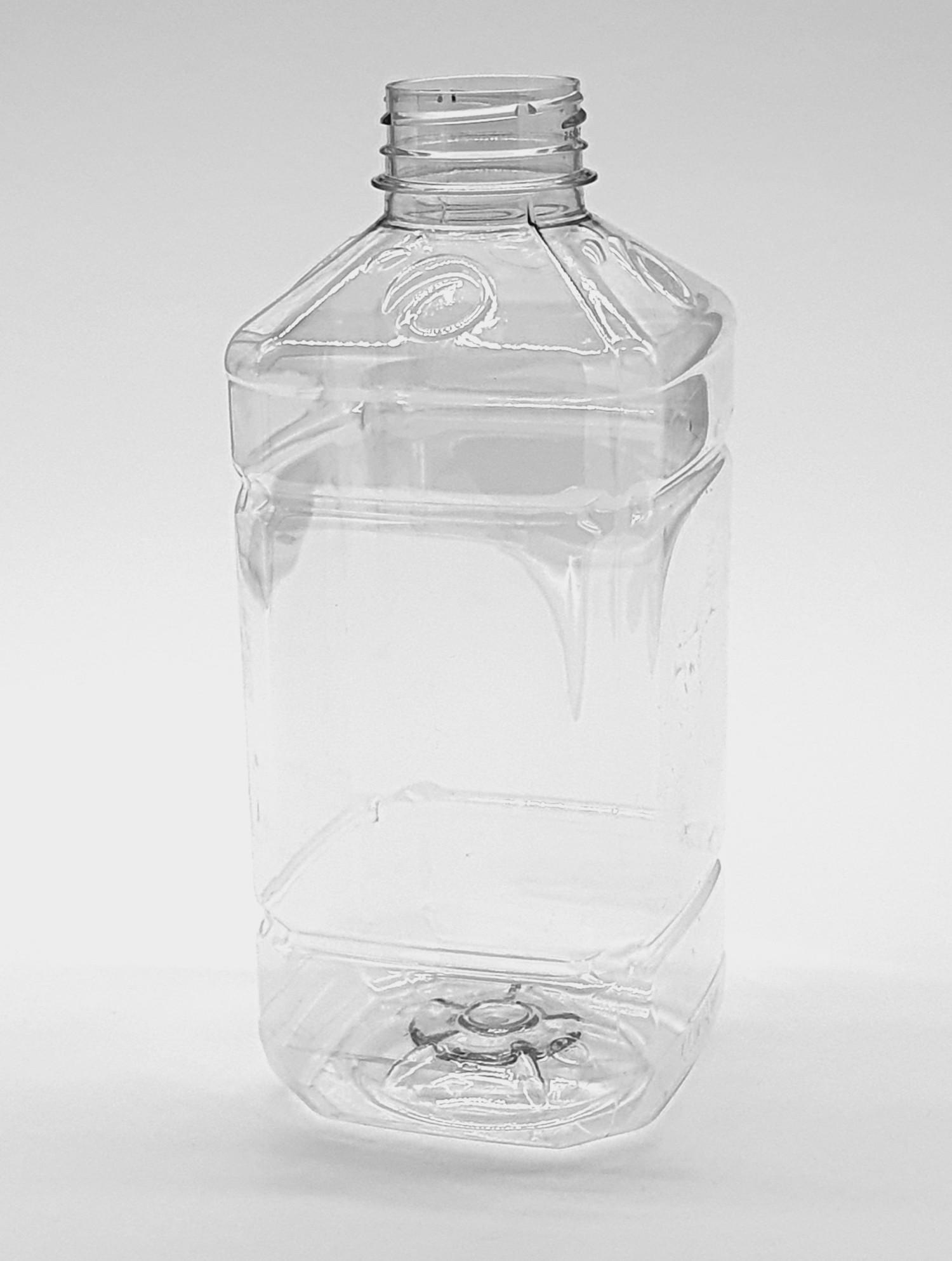 Butelka PET kwadratowa tłoczona 1000 ml